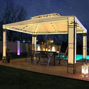 Pavillon 3x4m mit LED Beleuchtung Garten Pavilon Partyzelt Designer Pavillion