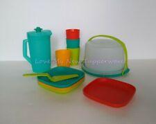 Tupperware Kids 11pc Mini Party Set Tumblers Plates Cake Taker Pitcher New