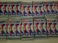 LOT One Hundred five (105) UNOPENED VINTAGE 1990 - 91 NBA HOOPS Basketball Cards