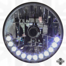 "LHD 7"" Round LED DRL style Head lights Land Rover Defender 90 100 110 headlamps"