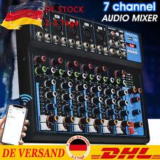 7-Kanal Digital Mic Line Audio Mixer Mischpult Microphone Effect Studio DHL