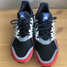 ADIDAS Mens sz 9.5 UltraBOOST S&L BLACK RED BLUE EF1360 RUNNING SHOES $180 NWOB
