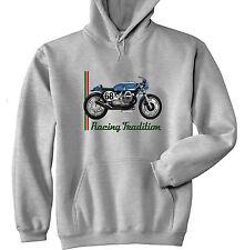 MOTO GUZZI Cafe Racer 2-Grigio Felpa Con Cappuccio-Tutte le taglie in magazzino