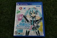 UsedGame PS Vita SEGA Hatsune MIKU Project DIVA F PSV  From Japan