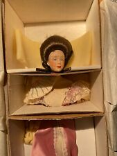 Franklin Heritage Doll Very Rare  Desirable Victorian Lady in Pink w/ Fan