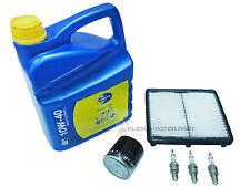 DAEWOO MATIZ 800cc SERVICE KIT OIL & AIR FILTER 3 SPARK PLUGS ENGINE OIL 10W40