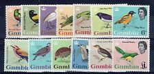 Gambia 1963 Birds set to £1 MH
