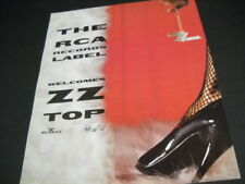 Zz Top is welcomed by Rca Records Label original 1992 Promo Poster Ad mint cond