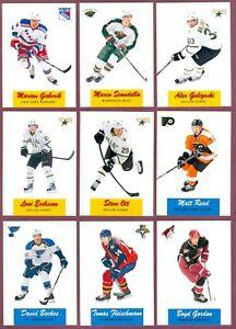 2012-13 O PEE CHEE RC RETRO RAINBOW POP UPS LEADERS NHL HOCKEY CARD SEE LIST