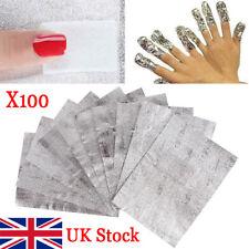 Nail Foil Gel Wraps Polish Remover Art Soak Off Acrylic Removal - No Acetone UK