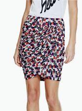 GUESS Women's Oki Draped Skirt – Lipstick Love Jet Black sz S