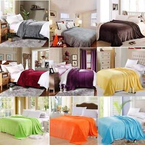 UK Fleece Blanket Large Sofa Throw Soft Warm Faux Fur Mink Double & King Size