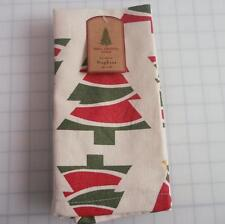NEW Well Dressed Home Cloth Christmas Tree Napkins Set of 4 100% Cotton