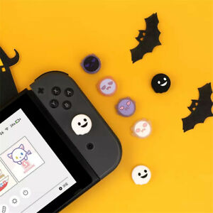 2 Pairs Ghost Silicone Caps Thumb Grip Joystick Cover for Nintendo Switch/Lite