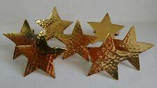 Heavy Brass Standing Star Napkin Ring Holders - 7