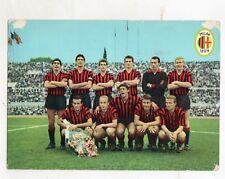 CALCIO  MILAN  1964  CARTOLINA  ICEA     VIAGGIATA  10,5 X 14,5