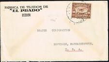585 Ecuador To Us Cover 1952 Rio Bamba - Hopedale, Ma