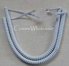 Meridian Norstar Option Nortel BCM Curly (Coiled) Cord Platinum x 2