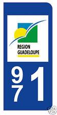 stickers autocollants plaques immatriculation auto Département Guadeloupe 971