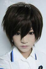 Hakuouki Cosplay Short Dark Brown Wigs
