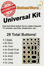 29 Button Rubber Keypad Repair Kit for TV Remote Controls,Keyfobs,Number Pad