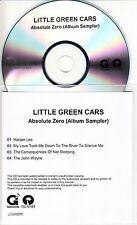 LITTLE GREEN CARS Absolute Zero Sampler 2013 UK numbered 4-track promo only CD