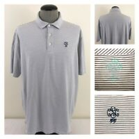 Peter Millar Seaside Wash Mens XL White Blue Striped SCC 1919 Fairway Shirt