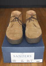 SANDERS & SANDERS LTD. Tan Suede Chukka Hi Top Boot UK 9 US 10 Used