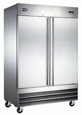 SABA Commercial Upright Freezer, Stainless Steel Freezer Storage (2 Solid Doors)