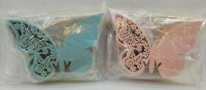 Kmall 100 Teal + 100 Pink Pearly Butterfly Wedding Party Table Topper Name Place