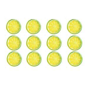 Artificial Fake Lemon Orange Lime Slice Garnish Fruit Faux Food Party Decor