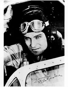DON BLAKESLEE WWII ACE SIGNED 8X10 PHOTO CO 4TH FIGHTER GROUP EAGLE SQUADRON