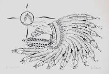 Jim Poitras Original Silkscreen Hand Signed Numbered Native Eagle Spirit 1993
