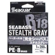 Seaguar R18 Kanzen Seabass 200m 11lb #0.6 Flash Green 0.128mm 8 Braid PE Line