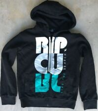 Boy's Ripcurl Sz 16 Hoodie Blk/White Hooded Sweatshirt