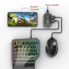 For Android IOS iPhone PUBG Gaming Wireless Keyboard Mouse Converter Dock Stand