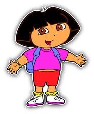 Dora Girl Cartoon Car Bumper Sticker Decal 5''x 4''