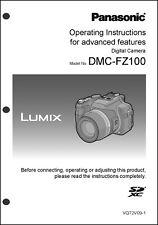 Panasonic Lumix DMC-FZ100 Advanced Camera User Guide Instruction Manual
