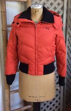 PUMA Snow Ski DOWN COAT Puffer Jacket TOMATO-RED Orange Fall Winter Women Small