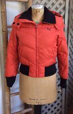 PUMA Snow Ski DOWN COAT Puffer Jacket TOMATO-RED Orange Fall Winter Women Small