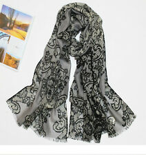 100% Pure Wool Woman's Pashmina Scarf  Soft Wrap Stole