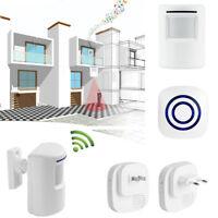 Infrared Motion Sensor Alarm Chime Entry Security EU/US Plug Wireless Door Bell