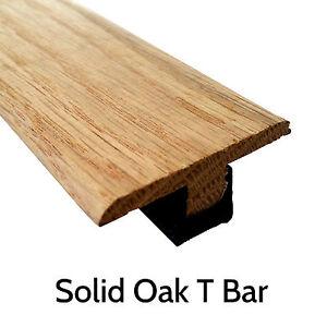 Solid Oak T Section Threshold Door Bar Trim 900mm Strip Lowest Price! Wood Floor