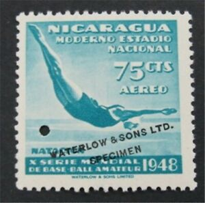 nystamps Nicaragua Waterlow Color Proof Stamp Mint OG NH Only 100 Exist. S17x836