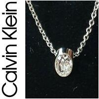 CALVIN KLEIN Stainless Steel Swarovski Crystal Brilliant Pendant New withTag $75
