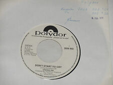 """Virginia Vee-Don 't start to Cry - 7"""" 45 POLYDOR PROMO archivio MINT"""