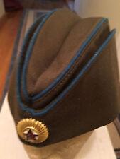 Soviet Russia CCCP Air Force General Side Cap Hat *ORIGINAL