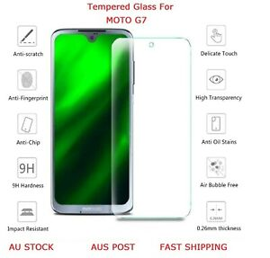 2 X Premium Tempered Glass Genuine Screen Protector For Motorola Moto G7 With 9H