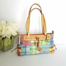 c1a0ab761 Dooney and Bourke Multi-Color A Cuadros Lienzo & Cuero Bolso de mano