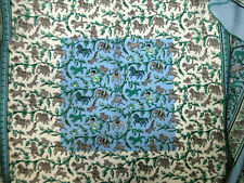 b5546400d8a Auth HERMES Scarf 140 70% Cashmere 30% Silk CHASSE EN INDE Blue Box Great